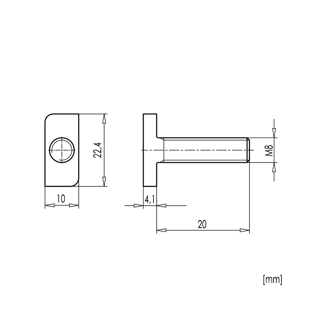 20x Hammerkopfschrauben Muttern M8 x 25 Edelstahl A2 Photovoltaik Typ 28//15