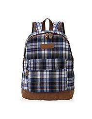 Hynes Eagle Retro Plaid School Backpack (Red)