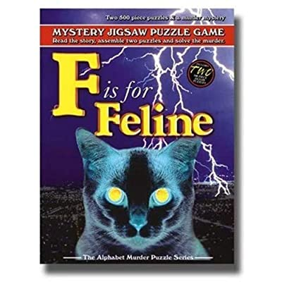 TDC Games F is for Feline - Alphabet Mystery Puzzle: Toys & Games