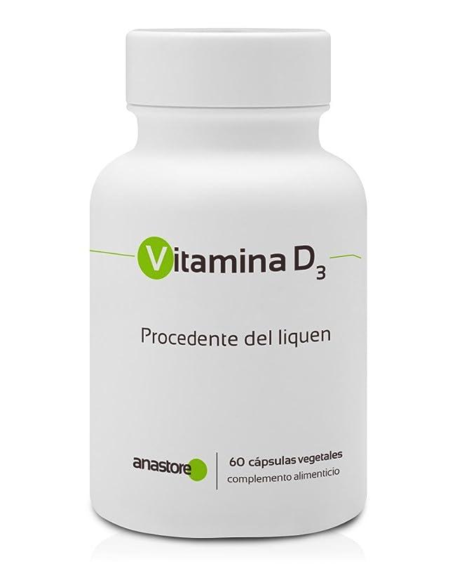 VITAMINA D3 * 100% de origen VEGETAL * 5 μg (200 UI) / 60 cápsulas ...