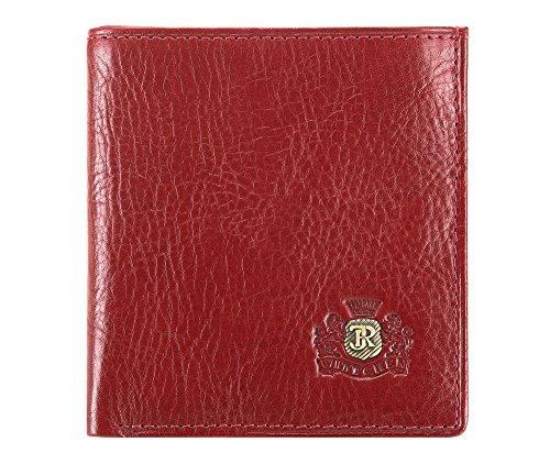 WITTCHEN Portafoglio, Dimensione: 9,5x10cm, Rosso, Materiale: Pelle di grano, Orizzontale, Collezione: Roma - 22-1-065-3