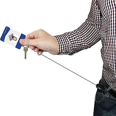 iGadgitz Home U6925 - Yoyo Portatarejetas Identificativas Retractil Llavero Retractil Clip de Cinturon Mosquetón Carrete Insignia con 66cm / 26 ...