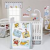 Trend Lab Dr. Seuss Friends 5 Piece Crib Bedding Set, Multi