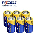 PKCELL D Size R20P R20 D UM1 Super Heavy Duty Battery 6 pack
