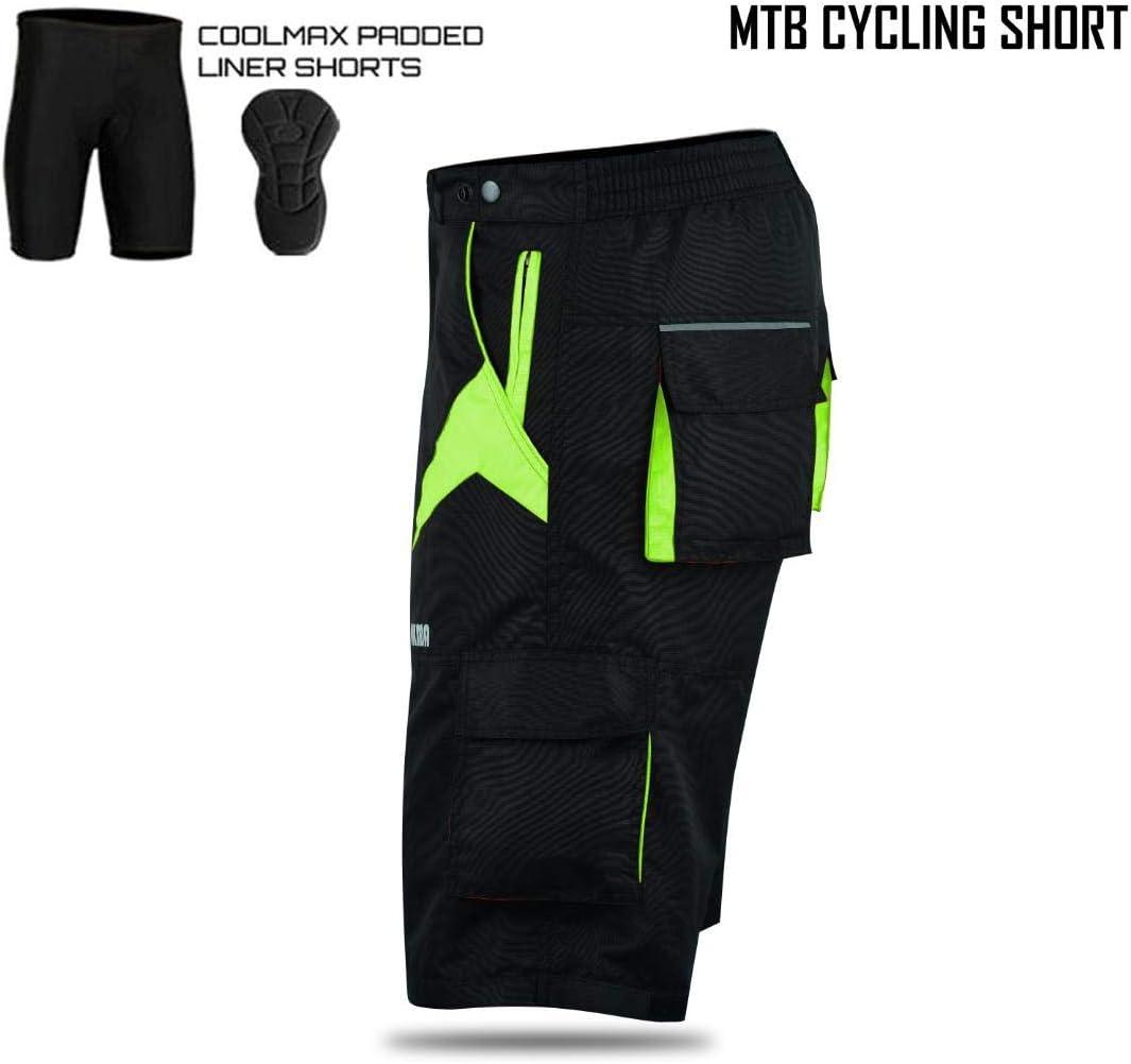 MTB Shorts Off Road Cycling Shorts Detachable Padded Liner