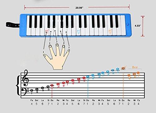 bestwoo 37 clave Melodica Piano estilo con funda de transporte ...