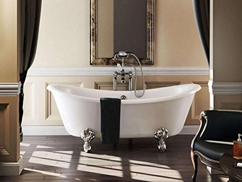Casa Padrino Nouveau bath freestanding 1640mm Bbat White - Freestanding Retro antique