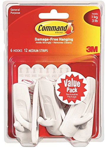 3-M Company 17001VP-BBB13 Command Hook - 6 Pack Pack Of 8