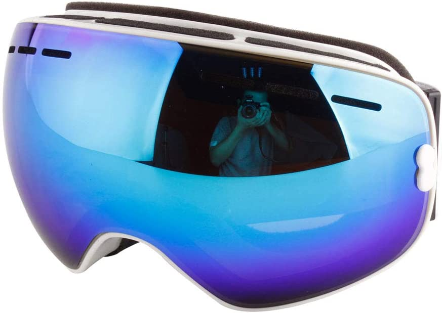 Ski Goggles UV Protection Anti-Fog Goggles for Men Women Youth Outdoor Snow Snowboard Over Glasses Dual Layer Lens Helmet Compatible