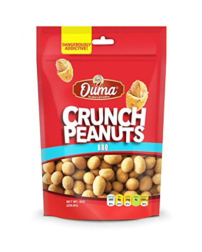 OUMA CRUNCH PEANUTS BBQ 8 oz(6 Packs)