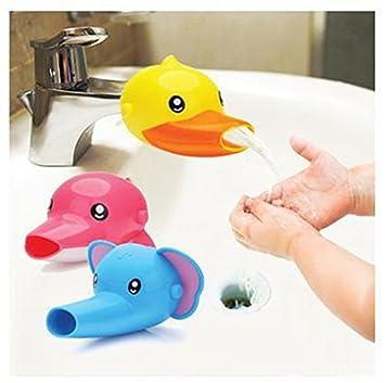 Caliente de la venta de la categoría alimenticia del bebé de plástico grifo Extender encantador de la historieta Animales Forma baño grifo del ...
