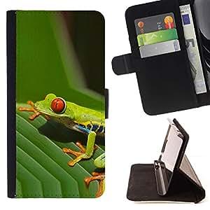Momo Phone Case / Flip Funda de Cuero Case Cover - Hojas Hoja verde de la rana venenosa Amazon Tropic - LG G4c Curve H522Y (G4 MINI), NOT FOR LG G4