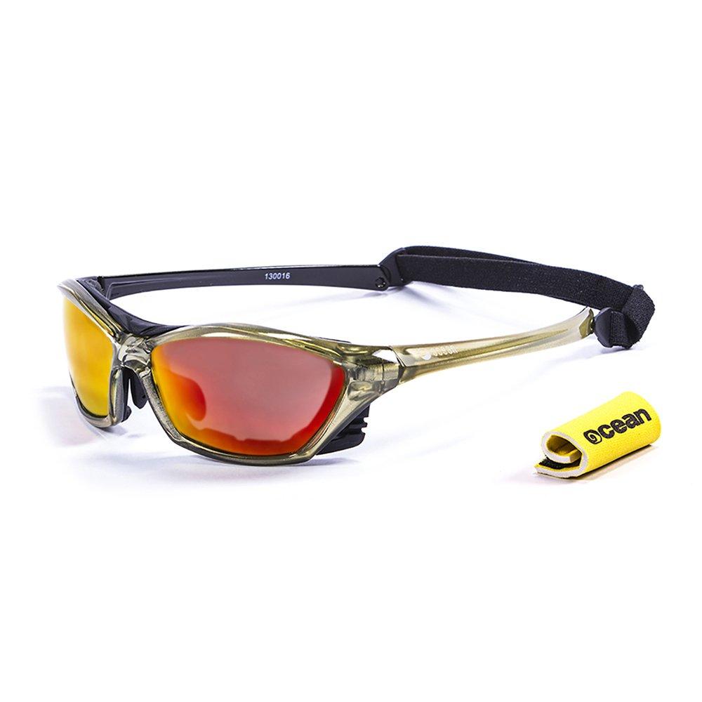 8bc65296f7 Ocean Sunglasses - lake garda - lunettes de soleil polarisées -Monture: Vert  transparent Verres: Revo Rouge(13001.6): Amazon.fr: Sports et Loisirs