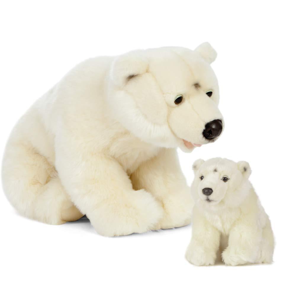 Living Nature AN503 - Oso Polar para Madre y bebé, Color Blanco, Talla única