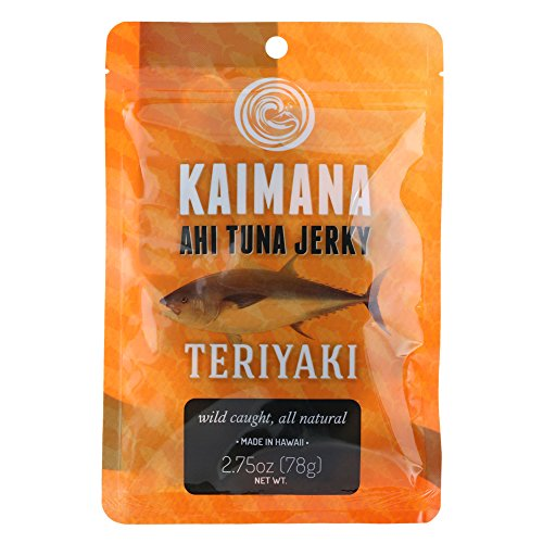Kaimana Jerky - Teriyaki Ahi Tuna Jerky - 2.75 ounce - All Natural & Wild Caught Tuna Jerky. Made in USA. Quality Protein & High Omega-3's ()