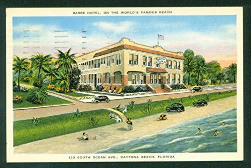 Barbe Hotel Daytona Beach Florida Oceanfront South Ocean Avenue Vintage Linen Postcard
