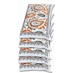 Gowri Tex Soft Pillow 17.5 x 27.5 inch (Multicolour) -Set of 5