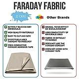 "Upgraded EMF Shielding Faraday Fabric 44""x39"" with"