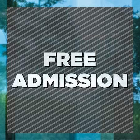 Stripes Gray Window Cling CGSignLab 24x24 5-Pack Free Admission