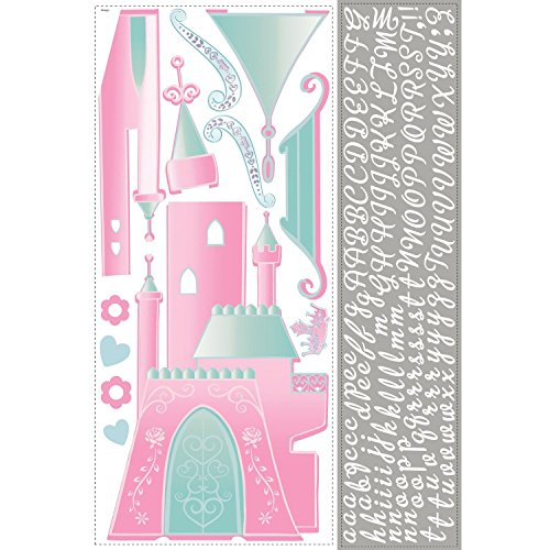 Roommates Rmk1785Gm Disney Princess Castle Peel And Stick Giant Wall Decal With Personalization (Princess Disney Stick)