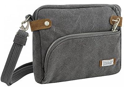 Travelon Anti-theft Heritage Crossbody Bag, Pewter
