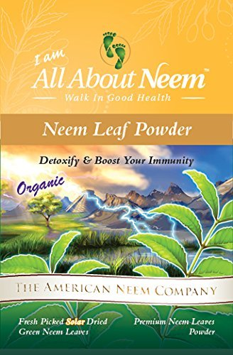 Neem Leaf Powder - Fresh Ground Whole Neem Leaves (16 oz) Non GMO Supplements for Healthy Skin, Hair, Nails, Supports Digestion Healthy Blood Sugar, Cholesterol Make Your Own Neem Capsules USA