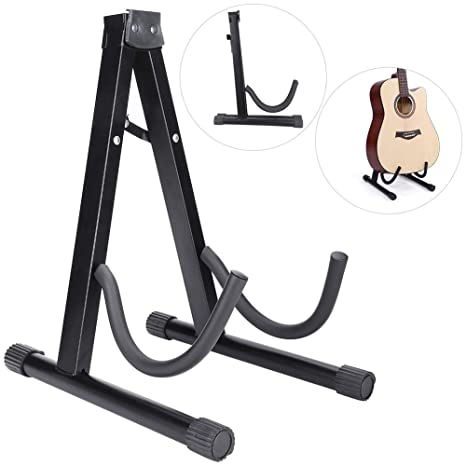 Soporte de Guitarra, Soporte de Guitarras de Pie Plegable A-Marco Soporte de Guitarra