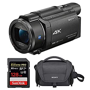 Flashandfocus.com 51QlZvOrivL._SS300_ Sony FDRAX53/B 4K HD Video Recording Camcorder with 128GB Card and Case Bundle (3 Items)
