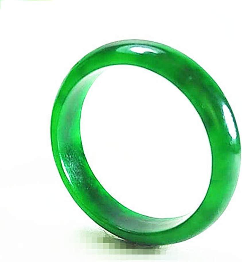 DQW Corte Plateado Plateado Inspirado Piedra de Nacimiento Arte Mujer Vintage Verde Jade Anillo Estilo Bisel esterlina