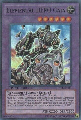 Yugioh CT08-EN011 Elemental Hero Gaia  Super Rare Card Yu-Gi-Oh! Verzamelingen