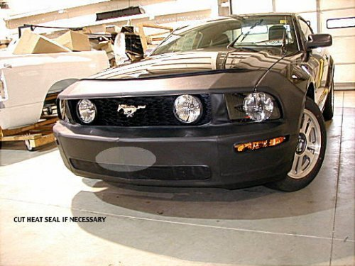 Lebra 2 piece Front End Cover Black - Car Mask Bra - Fits - FORD MUSTANG GT 2005 2006 2007 2008 2009,Excludes Mark III & California (Covercraft Car Bra)