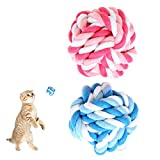 NNDA CO Funny Durable Cotton Braided Colorful Rope Ball Puppy Dog Pet Play Chew Toys(Large)