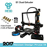 [New] 2017 Upgraded HE3D EI3 3D Dual Extruder/Color Printer DYI Kit, Reprap Prusa i3 High Accuracy with Heated Print Bed Hoyi Sunway Limited Printers