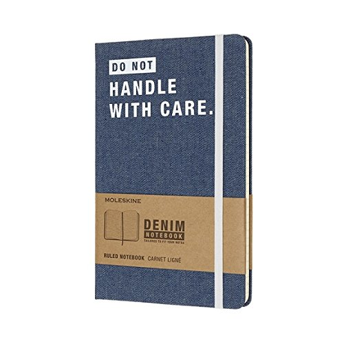 Moleskine Limited Collection Denim Notebook, Large, Ruled,..