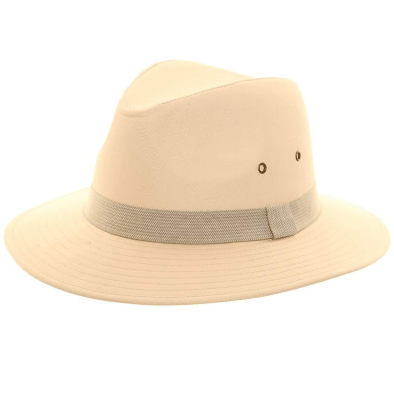 The Hat Company Mens Cotton Fedora