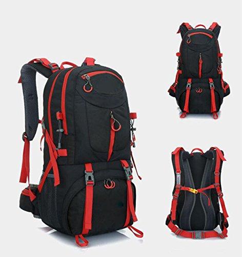 Alpinismo Al Aire Libre Mochila De Viaje 50L,Orange-40L black-40L