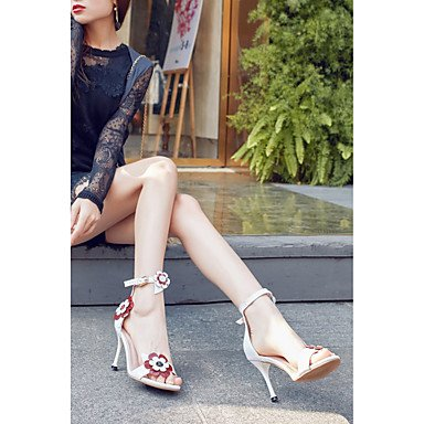 LvYuan sandalias de los zapatos del club primavera verano del zurriago de fiesta&noche tacón de aguja Black