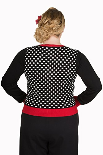 Banned - Gilet - Femme noir Noir / blanc / rouge