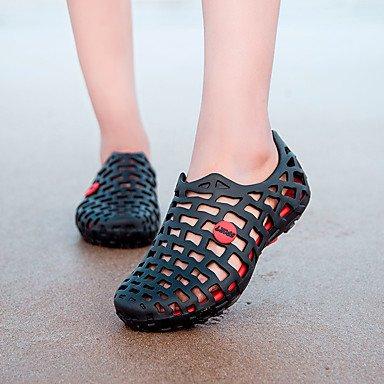 LFNLYX La mujer Primavera Verano sandalias de goma otros exterior Azul Gris negro Casual Otros Black