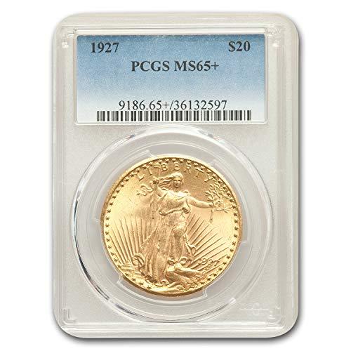 - 1927 $20 St. Gaudens Gold Double Eagle MS-65+ PCGS G$20 MS-65 PCGS
