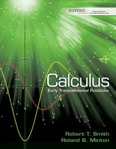 Student Solutions Manual for Calculus: Early Transcendental Functions by Smith, Robert T (January 19, 2011) Paperback