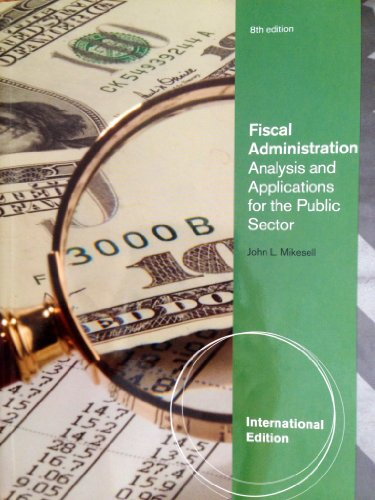 chapter two mikesell fiscal administration 8th edition Demonstrates dramatic e-availability improvements for two of the three   resources compels public vigilance and fiscal transparency (mikesell, 2014)   delivery role across most of the us, partially supported in part by public debt  financing  administration and nonprofit management, 3rd edition, armonk, ny : m e.