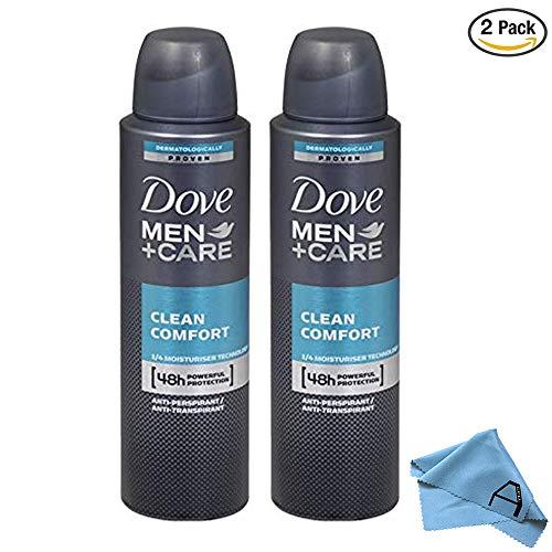 Dove Men Care Clean Comfort Spray Deodorant & Anti-Perspirant 150ML (2 Pack)