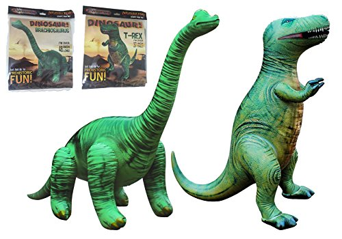 T-Rex Combo! Inflatable T-Rex and inflatable Brachiosaurus