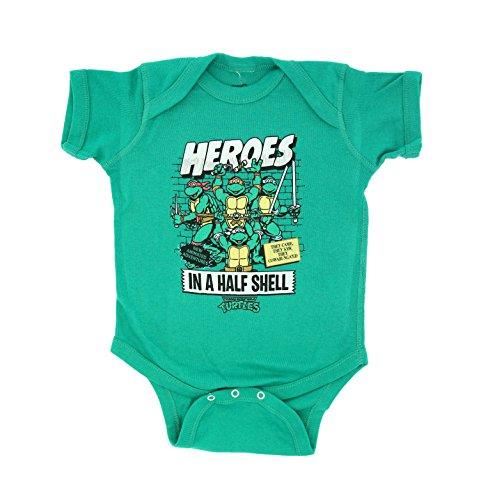 TMNT Teenage Mutant Ninja Turtles Heroes In A Half Shell Baby Onesie Romper (0-6 (Onesie Teenage Mutant Ninja Turtles)