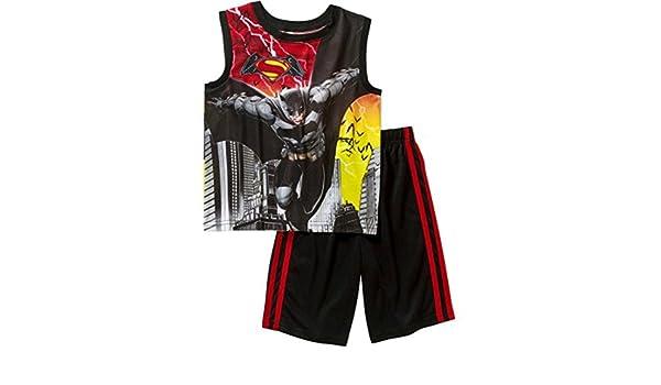 407d23b9c9ce8 Amazon.com  DC Comics Batman Versus Superman Big  Boys Shorts Pajamas Set  Dawn of Justice  Clothing