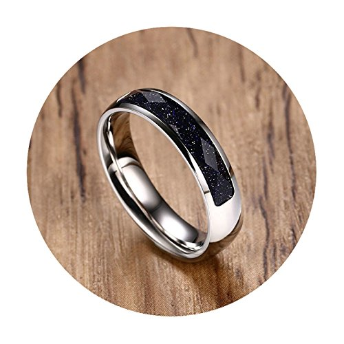 Aooaz Jewelry Mens Ring Stainless Steel Ring Silver Rectangle Blue Sandstone Novelty Size - Sandstone Antique Pearl Pearl