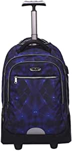 ZLSANVD Rolling Backpack,Wheeled Laptop Backpack - College or High School Laptop Backpack