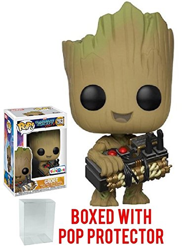Funko Pop! Marvel Guardians of the Galaxy Vol. 2 Groot #263 (Holding Bomb) Toys R Us Exclusive (Bundled with Pop BOX PROTECTOR CASE)