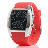Eeleva RPM Turbo Blue Flash LED Watch BRAND NEW Gift Sports Car Meter Dial Men Red